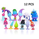 EU-Pretty DreamWorks Film Trolle Puppen 12pcs Mini Figuren Sammler Puppe 3-7cm Action-Figuren Kuchen Topper