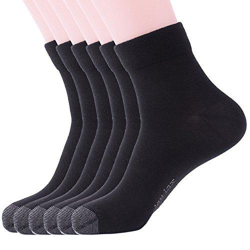 Laulax 6 pairs Finest Combed Cotton Black Socks, Gift Set