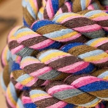 Westeng Chew corde jouet en Forme Sphère Tissé pour Chiens 5.5cm S (Couleur aléatoire)