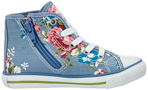 Primigi Pgc 7316, Sneakers Hautes Fille Bleu (Jeans-fuxia)