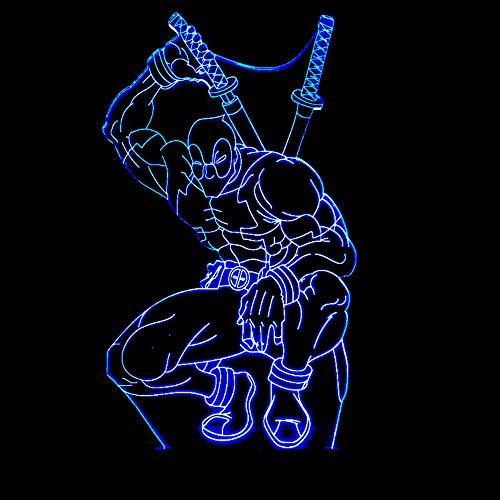 3D Usb Led Dead Zone Tischlampe Cartoon Nachtlicht 7 Farbwechsel Lampe Schlaflampe Schlafzimmer Nachttisch Nachttisch Cool Boy Geschenk