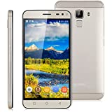 "Bluboo Xfire 2 - Smartphone libre 3G Teléfono Android (Pantalla 5.0"" IPS HD, 8GB ROM, Quad Core 1.2GHz, Dual SIM, Lector de huellas dactilares), Dorado"