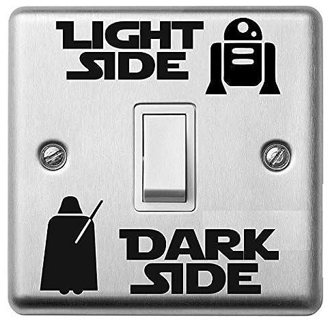 Star Wars Dark Light Side Switch Vinyl Decal Sticker Child Room Lightswitch Wall #1