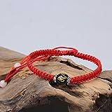 BASSK_Chapitre de Bouddhisme Marine chapitre Bleu Marine Perles Bracelet Bijoux Rouge...