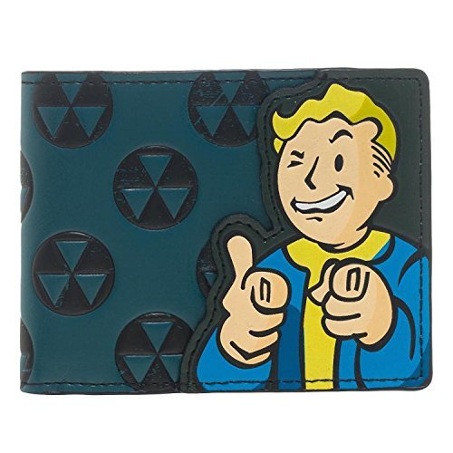 Bethesda Fallout 4 Vault Boy Appliqué With Embossing Bi Fold Wallet Costume Accessory (Kostüm Vault Boy)