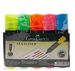 Faber-Castell Textliner, Assorted Colours - Pack of 5