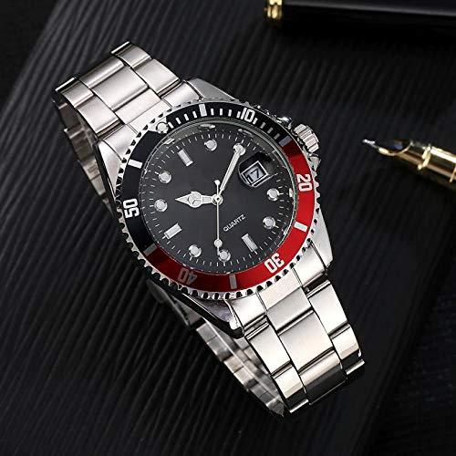 Beisoug GONEWA Hombres Moda Reloj de Pulsera análogo de Cuarzo de Acero Inoxidable Militar de Acero Inoxidable