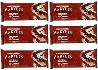 Harveys Crunchy & Creame Gourmet Delicacies Cream Wafer Biscuit 150 g Sticks - Chocolate Flavoured (Pack of 6)