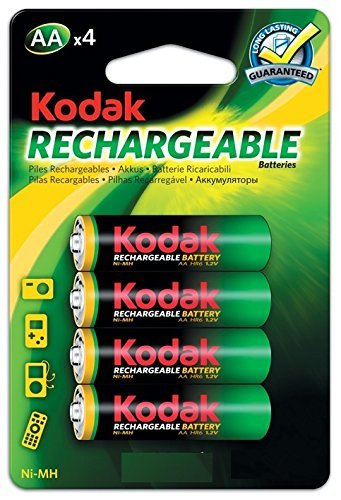 Kodak-Batterie ricaricabili AA HiMh 2600mAh, confezione da 4
