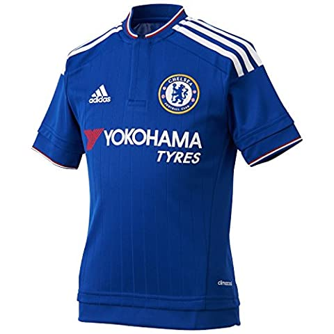 ADIDAS Maillot t shirt Officiel CFC CHELSEA Domicile Bleu 2016 -JUNIOR ENFANT (13-14ANS 164cm)