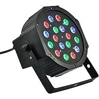Faro RGB 18W Foco 18LED varios colores Discoteca Sensor sonoro luz multicolor