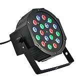 Scheinwerfer RGB 18W Strahler 18LED verschiedene Farben Licht Sound Sensor Licht bunt