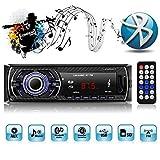 1 Din Autoradio,Autoradio mit Bluetooth Freisprecheinrichtung,mit USB/SD/AUX für Samsung/iPhone/Android,Freisprechfunktion und integriertes Mikrofon Standard Einbaugröße