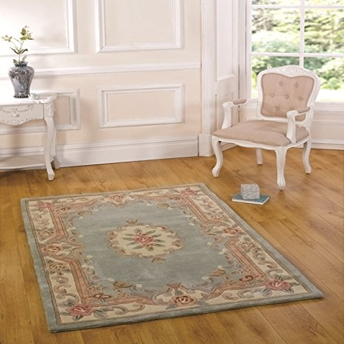 Flair Rugs Lotus Premium Aubusson Grün Wool Traditionell Design Rug 60X120