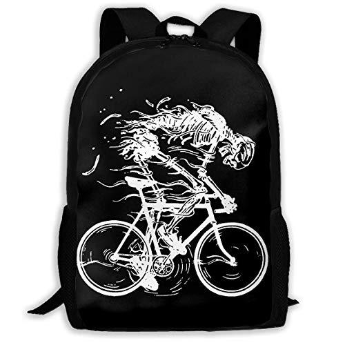 BGKASUH Leichter Skelett-Fahrradrucksack, mit Knochenmotiv, bedruckt, wasserabweisend, für Reisen, Laptop, 43,2 cm (17 Zoll)