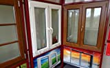 Kunststofffenster 150 x 100 (b x h), Rehau, 2 flügelig, weiss, rechter Flügel Drehkipp und linker Flügel Dreh