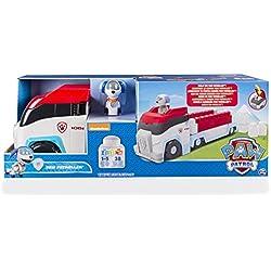 Paw Patrol Ionix Jr. Paw Patroller vehículo de juguete - vehículos de juguete (Negro, Azul, Gris, Rojo, Color blanco, 1 año(s), 5 año(s), Niño, 38 pieza(s), Motor (de fricción) hacia delante)