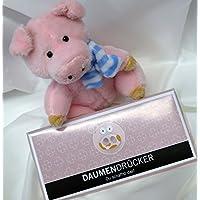 #30-Geschenkset: Glücksschwein, Schokolade Daumendrücker 100 gr. ###