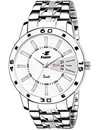 Espoir Analog White Day and Date Dial Men's Watch - LukeSam