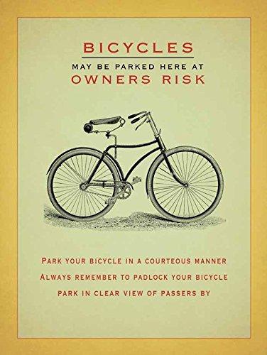 Fahrräder Vintage-Stil Blechschild (Vintage Fahrrad Kennzeichen)