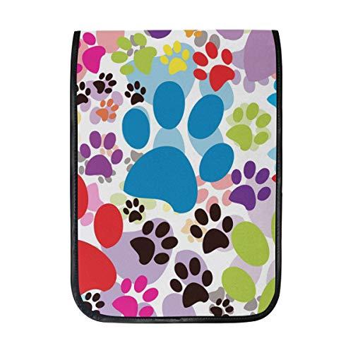 TIZORAX iPad Pro 12,9 Zoll Hülle, Katze Hund Pfotenabdrücke, Smart Cover Schutzhülle mit eingebautem Stifthalter für Apple iPad Pro 12.9