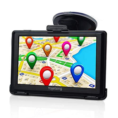 GPS Navi Navigation für Auto PKW LKW PKW KFZ Navigationsgerät 5 Zoll Navigationssystem Lebenslang Kostenloses Kartenupdate POI Blitzerwarnung Sprachführung Fahrspurassistent 2018 52 Europa UK Karten