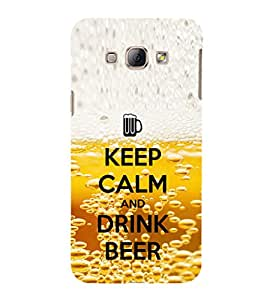 EPICCASE Keep beer and calm Mobile Back Case Cover For Samsung Galaxy A8 (Designer Case)
