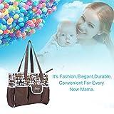 Große Kapazität Schulter Mutter Tasche Baby Wickeltaschen mit verstellbarem Gurt (Farbe: Kaffee Farbe)