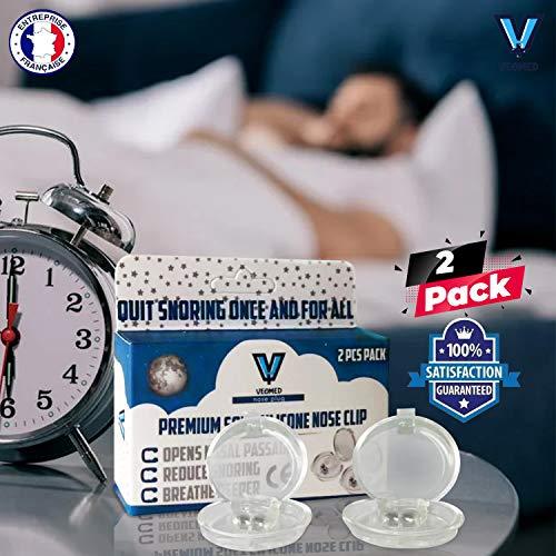 VEOMED® Clip Anti Ronquidos eficaz | Stop Ronquidos | Dejar de roncar | Ronquido Stop | Dispositivo de protección antironquidos de primera calidad | Dilatador nasal | apnea del sueño (2)