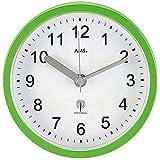 AMS Wanduhr - AMS Tischuhr Baduhr Badezimmeruhr Funk grün hellgrün wasserdicht