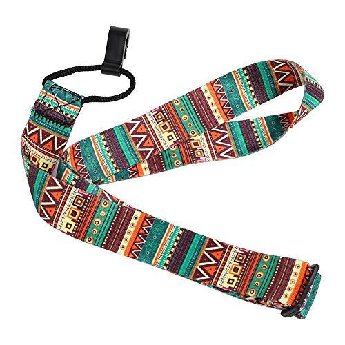 Dilwe Ukulele Strap, verstellbares Nylon böhmischen stilvollen Universal Strap Gürtel Sling mit Haken für Ukulele Mini Gitarre Zubehör Teile