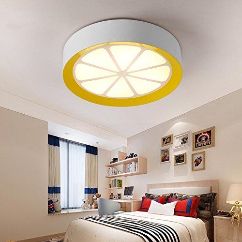 Maniny Niño niños habitación lámpara de Techo Personalidad Creativa limón Dormitorio lámpara de Techo Simple Chica Moderna habitación Ojos cálidos diámetro del Techo 40 cm