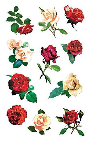 Zweckform - Pegatinas decorativas, diseño de rosas