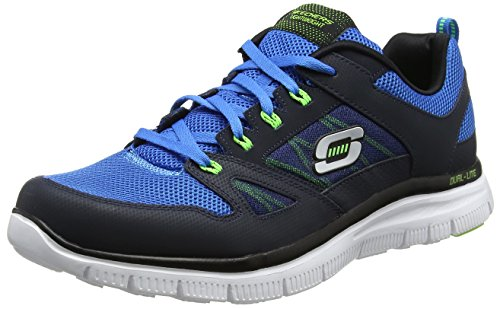 Skechers Flex Advantage Herren Sneakers, Blau (Navy/Blue), 40 EU (Running Skechers Sneakers)