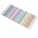 900 Pieces Coloured Flat Back Rhinestone Gems for Art & Crafts