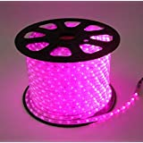 High Quality Waterproof LED Rope Light With Adapter For Decoration - 5 - Meters - Pink Color (Phoenix Light)