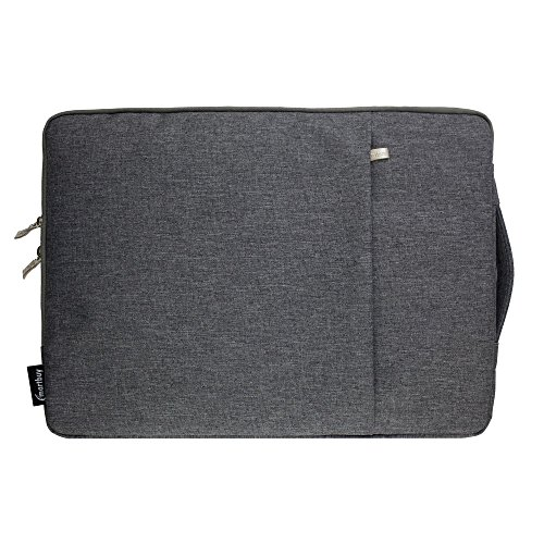 Emartbuy Laptop Pouch Sleeve Bag with Handle and Pocket Water Resistant for RDP ThinBook 1130-EC1 11.6 Inch HD Laptop (11.6-13.3 Inch, Grey)