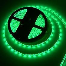Tira LED Resistente al agua 5m 300 LED SMD 5050,Verde,12V [Clase de eficiencia energética A+]