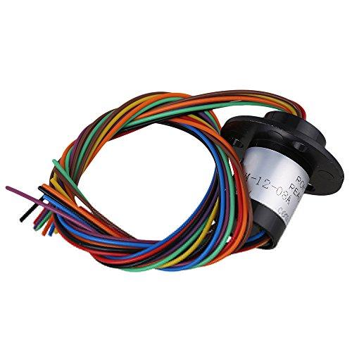 """BQLZR 0.5""""""""Durchmesser 240V Schwarz 8 Schaltungen 250rpm Jeder 2A Kapsel Schleifringe 4 mm Bohrungsgroesse Kapsel Schleifring"""