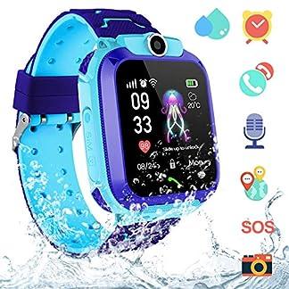 Smartwatch Niños IP67 Impermeable – AGPS LBS Tracker Localizador Reloj Inteligente Niños, Smartwatch Niña con Cámara SOS Chat de Voz Juego Alarma, Reloj Inteligente Niña Compatible con iOS Android