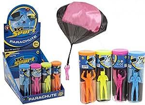 Parachutiste homme avec Nylon Parachute 4 couleurs Outdoor Summer Fun Game Toy plongée sous-marine