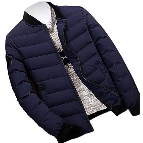 New Winter Leisure plus Velvet matelassé Down Coat Coat Men , blue , xxxl