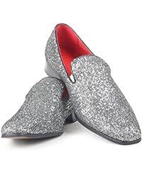 4922e798125d Rosellini Mens Italian Designer Slip On Smart Pointed Toe Shoes