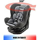 Asiento Auto giratoria 360° y inclinable 4posiciones Made in France grupo 0+/1(0–18kg)–4colores