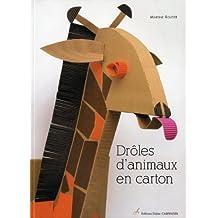 Drôles d'animaux en carton