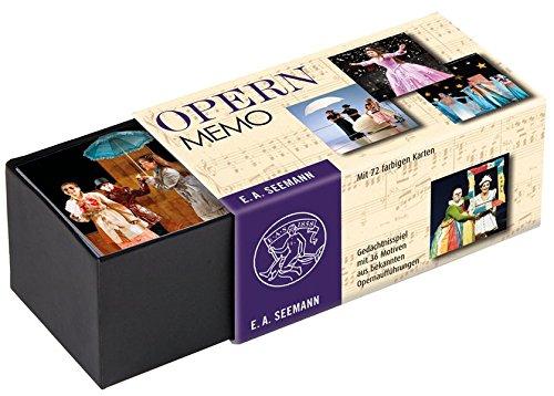 Opern-Memo: Gedächtnisspiel mit 36 Motiven aus bekannten (Kleine Kostüme Eine Musik Nacht)