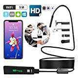 WiFi Wireless Endoskop 2.0MP 1200P Full HD Inspection Camera By B-DIG, IP68 wasserdicht Borescope with 8 LED Lights ,Semi-Rigid Cable Snake Camera for iPhone Android Smartphones,Table PC,iPad 16.5FT(5M) (16.5FT(5M))