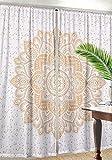 Nandnandini Textile – ein perfektes Weihnachtsgeschenk, Ombre-Mandala-Vorhänge, indischer Vorhang für Balkon, Raumdekoration, Boho-Set