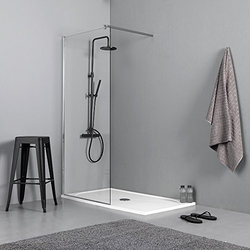 Parete divisoria Walk-In 110 x 200 cm Cabina doccia Lily //10 millimetri cm non trasparente Doccia// Parete doccia Cabina doccia