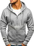 BOLF Kapuzenpullover Sweatshirt Hoodie Zip J.Style 2008 Grau M [1A1]